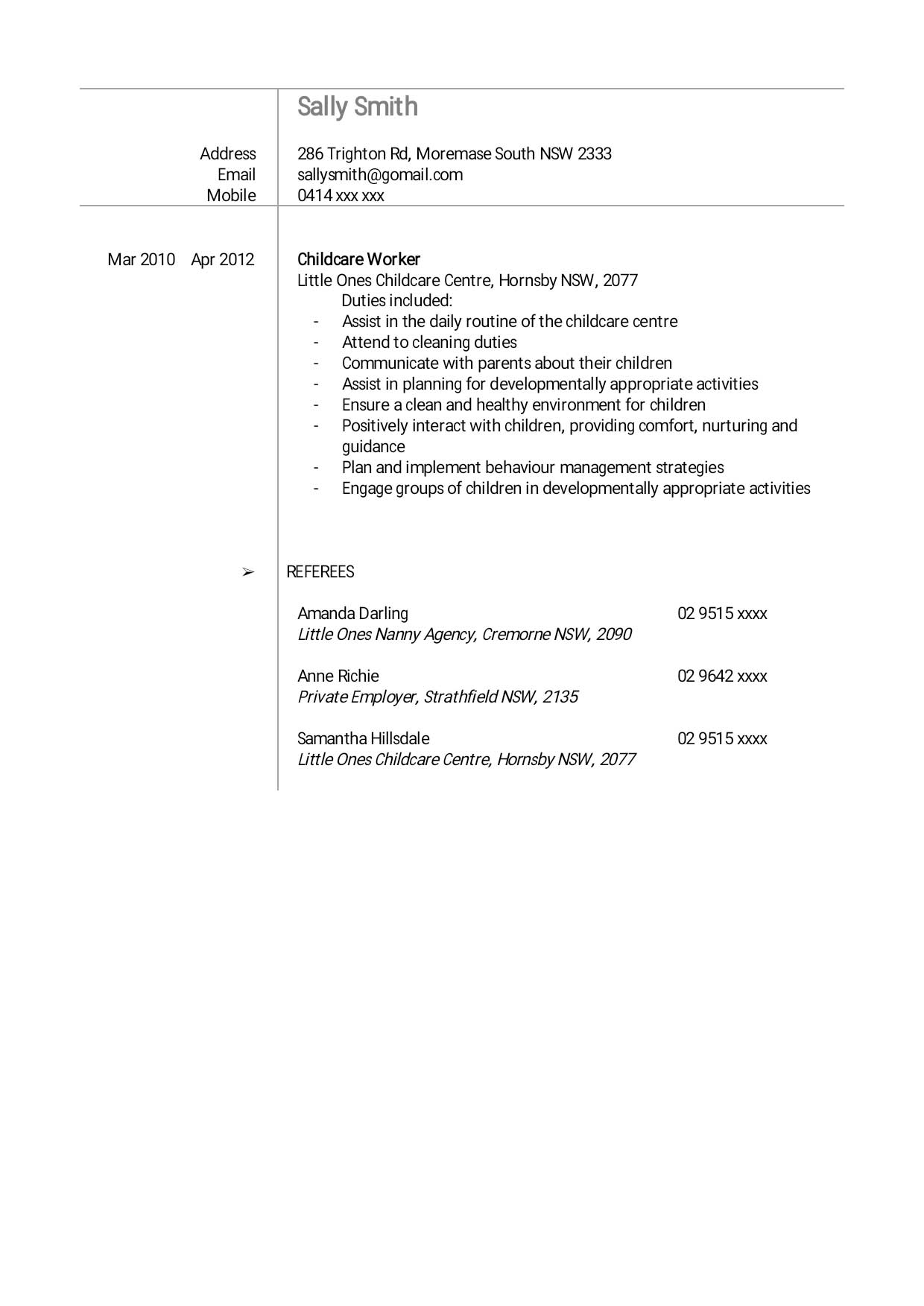 creating your cv nanny agency the nanny collective jpeg cv pg 2